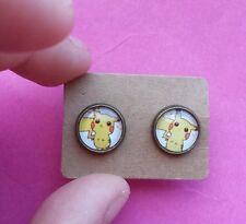 Pokemon GO pikachu geek gamer RETRO QUIRky kitsch stud earrings Retro 90s Gift
