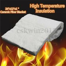 "Aluminum Silicate High Temperature Insulation Ceramic Fiber Blanket 24""x12""x1"""