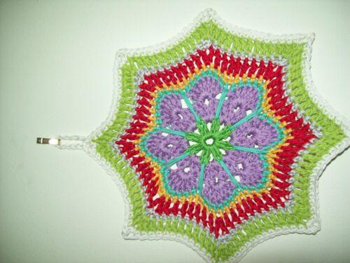 Handmade Crochet Maniques dessous de plat Pot Stand 100/% coton pendaison boucle NEUF
