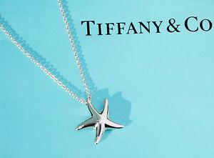 Tiffany co elsa peretti small 16mm starfish silver pendant image is loading tiffany amp co elsa peretti small 16mm starfish audiocablefo Light gallery