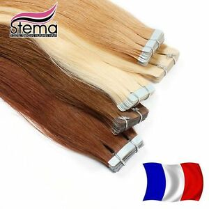 10-20-30-40-EXTENSIONS-DE-CHEVEUX-TAPE-BANDES-ADHESIVE-POSE-A-FROID-NATUREL-3AAA