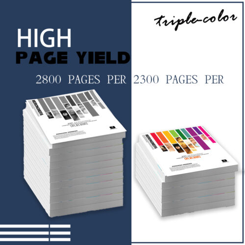 5PK High Yield Toner 201X CF400X CF403X for HP LaserJet M252n M252dw MFP M277dw