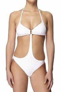 7204b74cdf4a Détails sur maillot de bain 1 pièce trikini ETAM blanc taille 38 - neuf