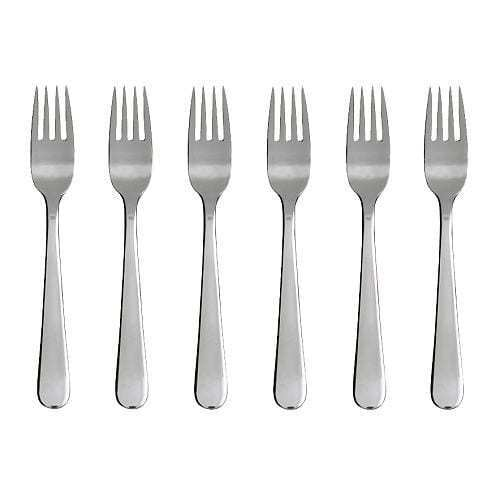 IKEA Dragon en Acier Inoxydable Salade//Dessert Fork Couverts 6 Pack 300.903.82 UK-C786
