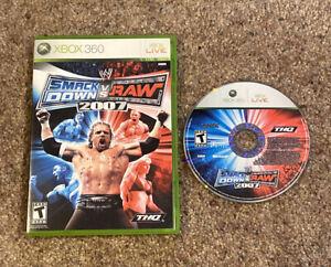 Xbox-360-WWE-SmackDown-vs-Raw-2007-No-Manual-Tested-amp-Guaranteed-to-Play