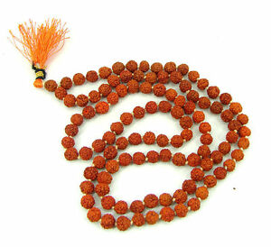 Rudraksha-String-108-1-Beads-6-00-MM-Hindu-Prayer-Meditation-1532716