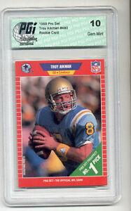 Troy Aikman 1989 Pro Set Rookie Card PGI 10 Cowboys HOF