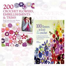 Claire Crompton & Lesley Stanfield 2 Books Collection Set 200 CrochetFlowers New