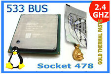 2.4(B) GHzP4 Socket 478 CPU. 533 MHz Bus +GOLD HeatSink Compound SL6DV Pentium4