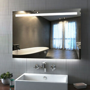 Bathroom Led Mirror Illuminated Demister Sensor Touch ...