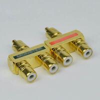 2 Pcs CESS? RCA AV Audio Y Splitter Plug Adapter 1 Male to 2 Female Adapter
