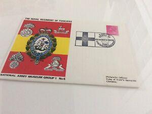 Commemorative Cover The Royal Regiment Of Fusiliers Nam Groupe 1 #6 23/4/71-afficher Le Titre D'origine