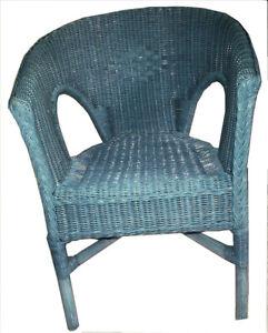 Rattan-Sessel-neu-blau-wash-Rattan-Stuhl-Korbsessel-stapelbar