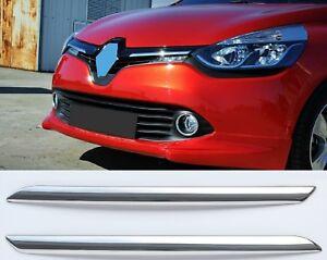 Radiador cromo barras de parrilla v2a insertos para Renault Clio IV fase i 2012-2016