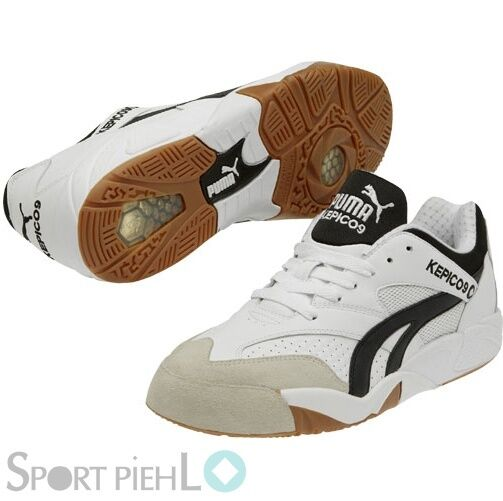 Puma Kepico 9 V2 Kegelschuhe shoes per Interni black Bianco