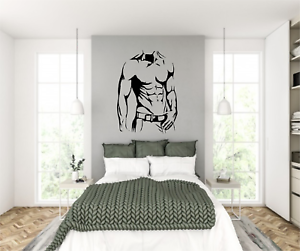 Sexy Male Men Naked Muscle Silhouette Man Cave Wall Art Vinyl Decal Sticker V619 Ebay