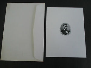 Vintage ABRAHAM LINCOLN Engraving by Bureau of Engraving & Printing