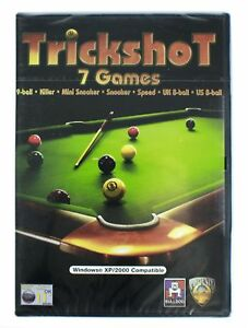 TRICKSHOT-PC-CD-ROM-7-billard-jeux-sur-un-CD-ROM-WINDOWS-XP-2000-TOUT-NEUF