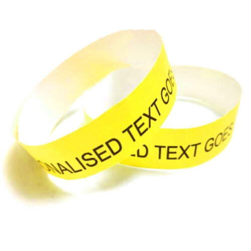 Personalised Paper Wristbands Custom Tyvek Birthday Hen Gig Party Entry Event UK