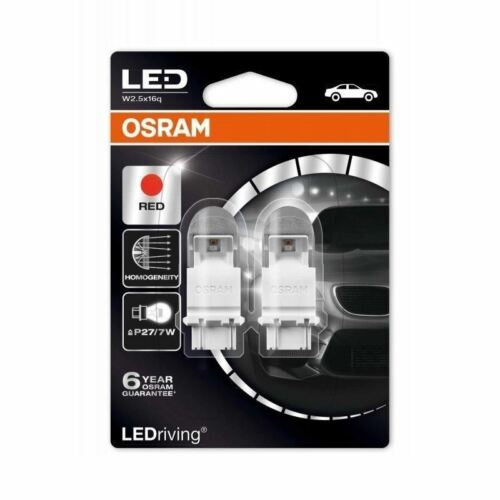 OSRAM LED Premium 2x P27//7W 12V 3557R-02B Exterior car lighting Indicator RED