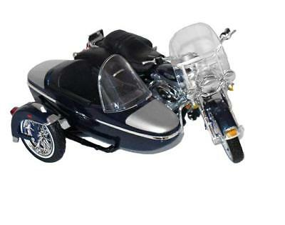 Toys & Hobbies 1/18 Maisto 2001 Harley Davidson Flhrc Road King Classic W Side Car Blue 76200