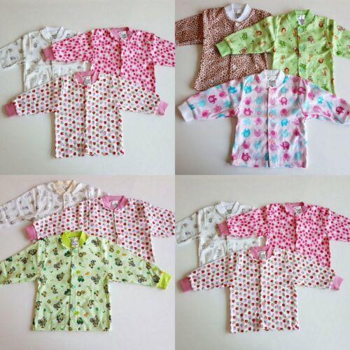 3 er Pack Baby Mädchen Hemdchen Jacke Jäckchen Baby Baumwolle Größe 56-104