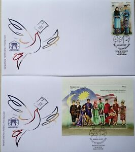 Malaysia FDC with Miniature Sheet & Stamps (16.09.2019) - National Costume