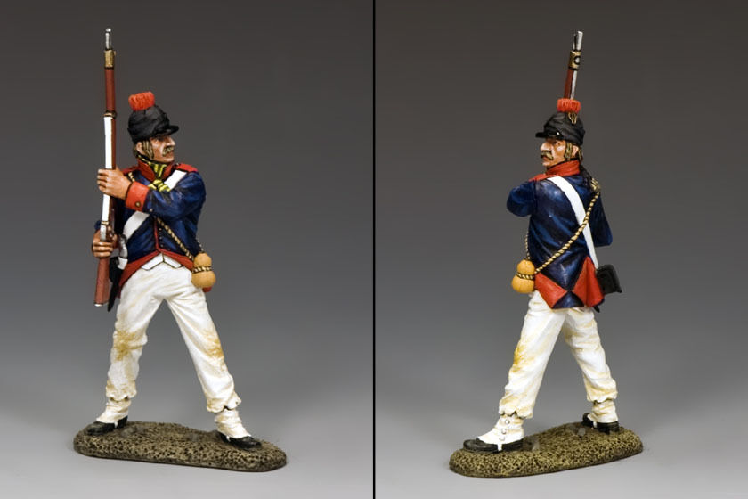 KING AND COUNTRY 9th Demi Brigade Standing Ready NE037 NE37 Painted Metal