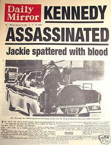 1963-John-F-Kennedy-Shot-Newspaper-President-JFK-Antique-Old-Vintage-Dr-Who-USA