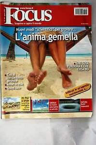 à Condition De Rivista Focus N.190 Del 2008 Anima Gemella, Medaglia D'oro, Natura Parfait Dans L'ExéCution