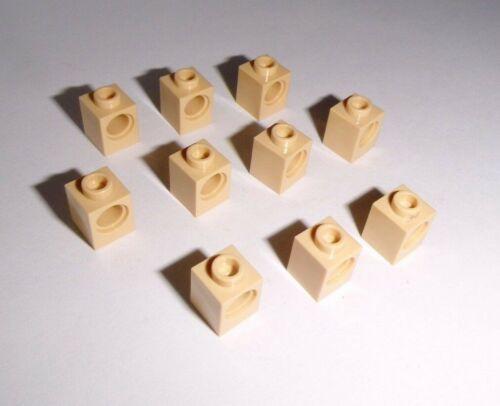 Lego 6541 in tan aus 10187 10196 4482 4729 7666 7985 8039 10 Lochsteine 1x1x1