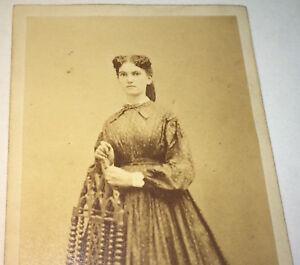 Antique-American-Civil-War-Era-Fashion-Beauty-Philadelphia-PA-CDV-Photo-Stamp