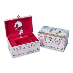 Magical Unicorn Kids Girls MUSICAL JEWELLERY BOX /Music Trinket Box -Lucy Locket