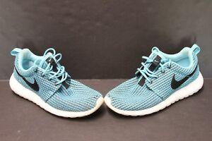 buy online 8a5d1 cd8d1 Image is loading Nike-Rosherun-Roshe-Run-Blue-Black-Womens-Running-