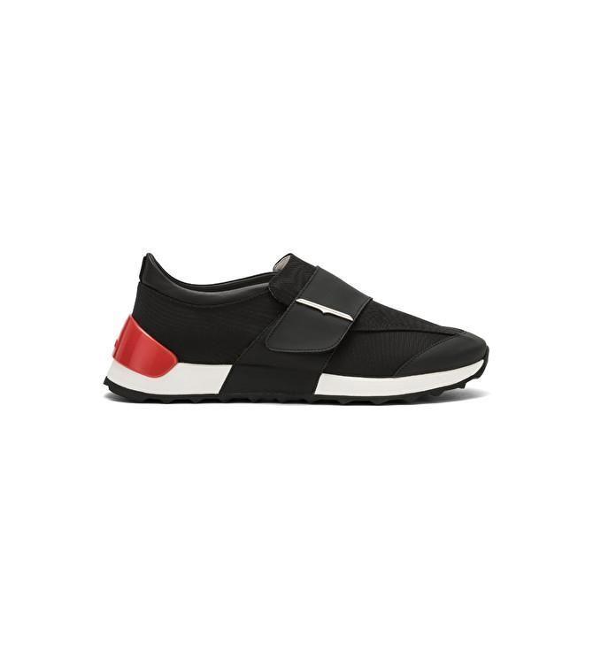 Onesoul Sneaker nera con strap e fondo running Guardiani shoes men black red