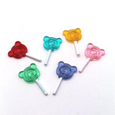 6pcs Dollhouse Mini Lollipop Miniature Models For Doll Scene Accessories Toys