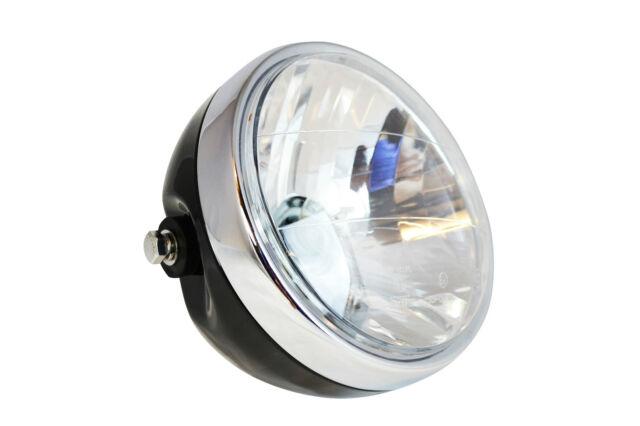 "Motorbike Headlight for BMW Cafe Racer & Scrambler Project - Black 12V 35W 6.5"""