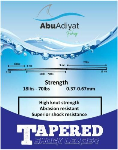 Bleu par abuadiyat 13mX5 Power Casting Tapered Shock Leader