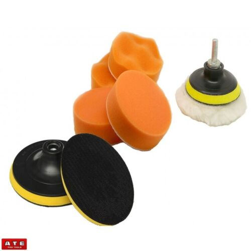 """Mini Small Round Foam 3/"""" Polishing Buffing Pad Kit for Drill or Angle Grinder"""