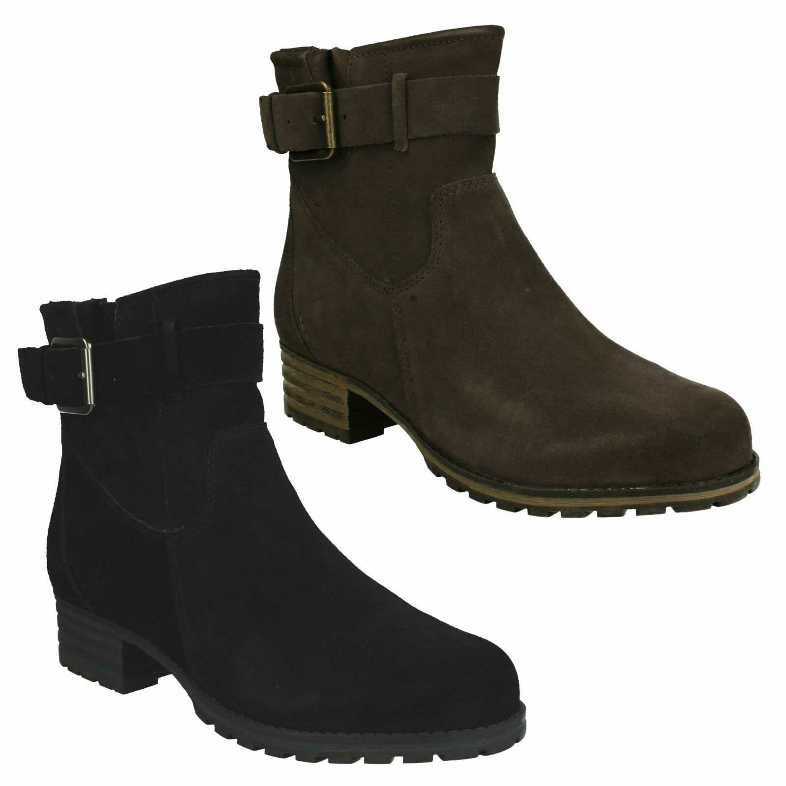MARANA AMBER CLARKS LADIES CASUAL ZIP UP SUEDE HEELED CASUAL LADIES Damenschuhe ANKLE Stiefel SIZE d18130