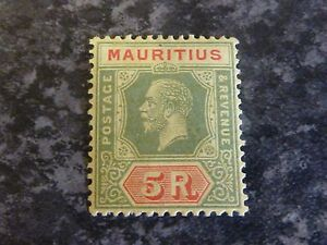 MAURITIUS-POSTAGE-REVENUE-STAMP-SG240-5R-LIGHTLY-MOUNTED-MINT