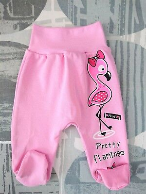 *BNWT* Baby GIRLS Trousers Pants with feet *100/% Cotton* 0-3//6-9 Months