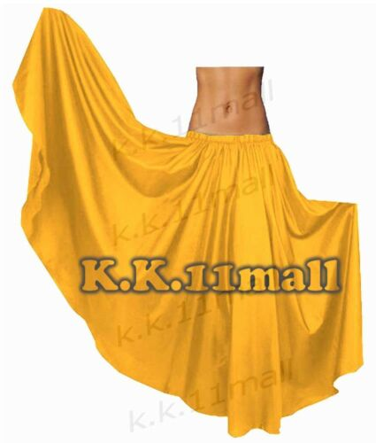 Satin Full circle Belly Dancing Skirt Tribal ATS Gypsy  Skirt Fusion Dance S8-1