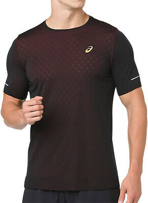 Asics Gel Cool Short Sleeve Mens Running Top - Black