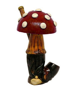 Purple Magic Wizard Handmade Tobacco Smoking Hand Pipe Medieval Magic Figurine