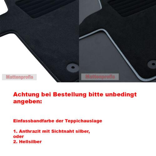 Premium Velour Fußmatten Komplettauslage für VW T6.1 //1 California Beach Bj.2020
