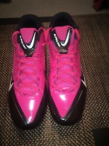 3ad3ec38a61 NIKE Men s Alpha Pro TD Flywire PINK Football Shoes Cleats 579545 ...