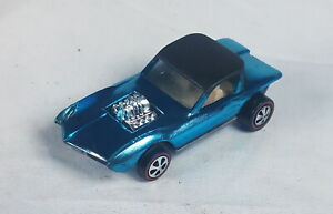 Restored Hot Wheels Redline - 1968 - Python - Lt Blue