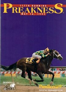 1992-PREAKNESS-STAKES-HORSE-RACING-PROGRAM-PIMLICO-RACE-COURSE-PINE-BLUFF