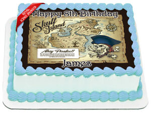 Pirate-Treasure-Map-Edible-Icing-Image-Personalised-Birthday-Party-Cake-Topper